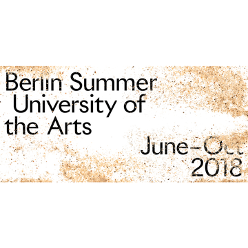 Berlin Summer University of the Arts 2018